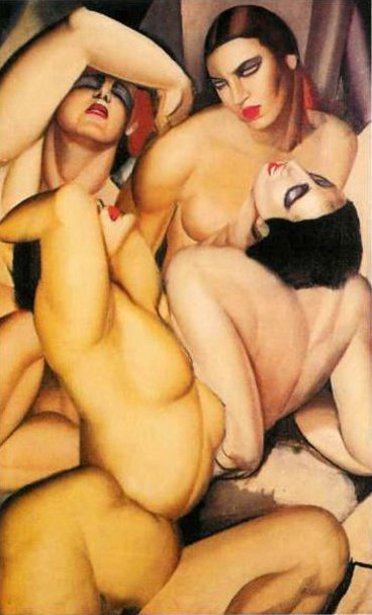Group Of Four Nudes
