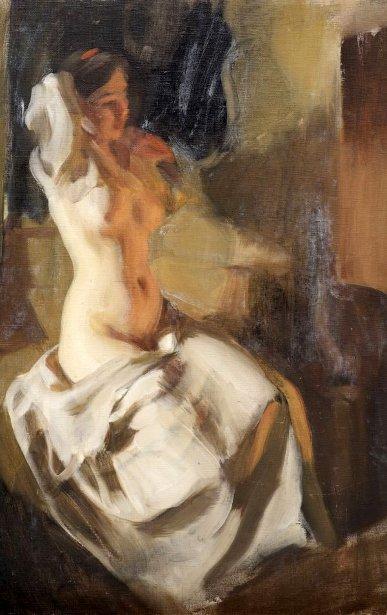 Nude In Firelight