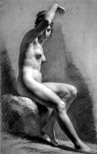 Female Nude Raising Her Arm
