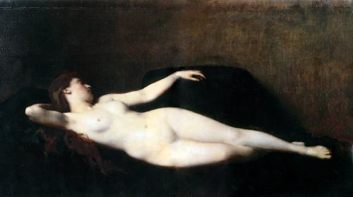 Woman On A Black Divan