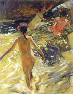 Young Girls Swimming In A Grotto