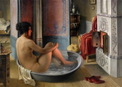 interior-med-badande-kvinna