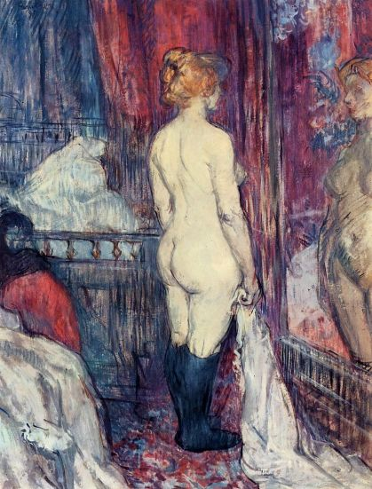 Nude Standing Before A Mirror