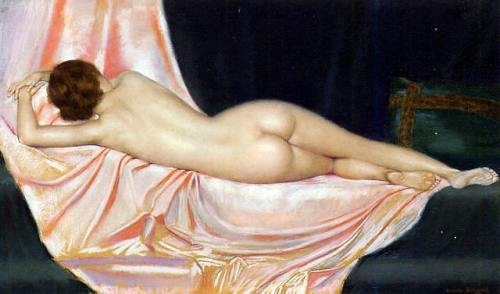nude-reclining-on-pink-fabric