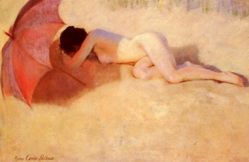 Nude With A Parasol
