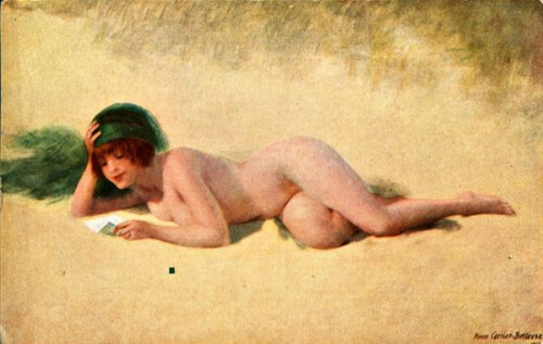 Reclining Nude On The Sand