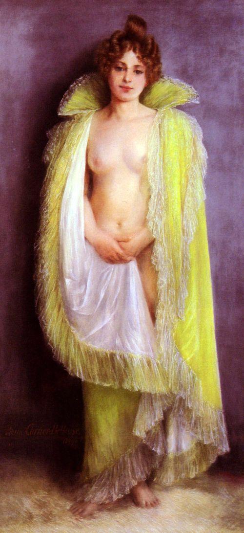 femme-en-deshabillee-verte
