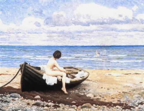 Bather On The Beach