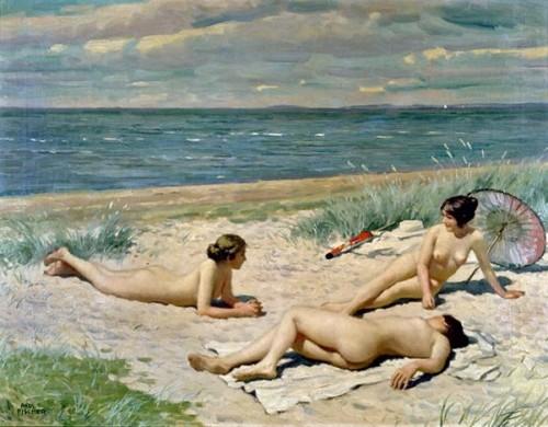 Bathers On A Beach