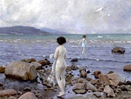 Bathers - Two Girls At The Beach