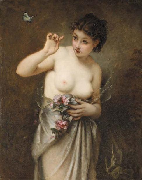 Guillaume Seignac - Jeune fille au papaillon