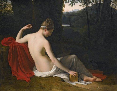 Pandora Reclining In A Wooded Landscape