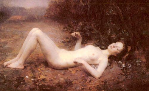 Female Nude With A Mandolin