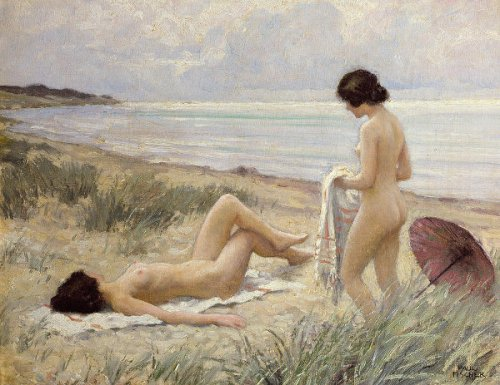 Summer On The Beach - Two Bathers