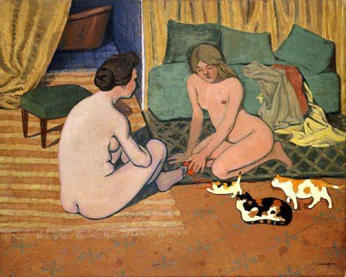 Femmes nues aux chats
