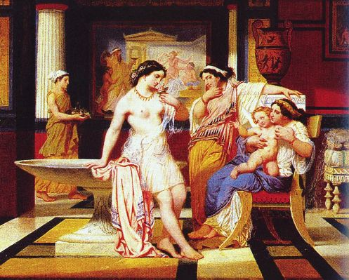 Ladies In A Pompeian Interior