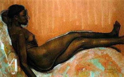Le modèle nu, allongé