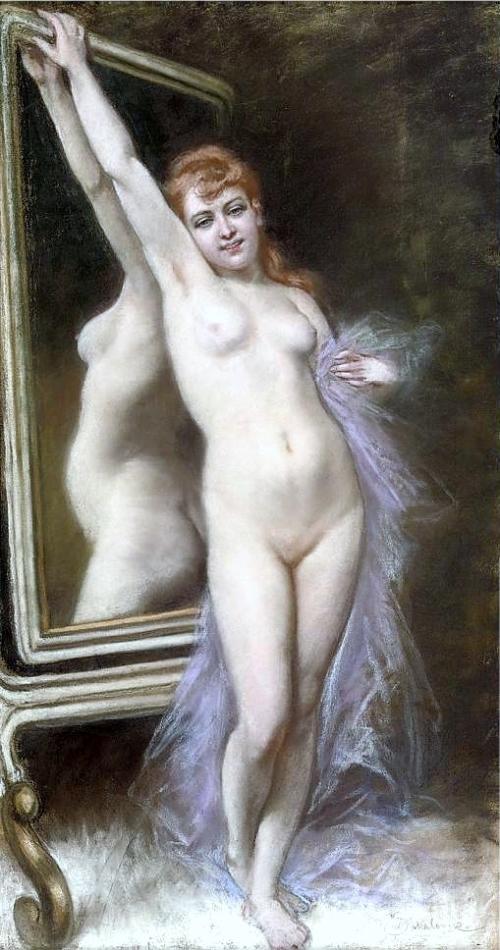Akt przed lustrem
