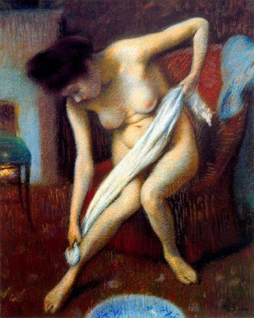 Donna che si asciuga