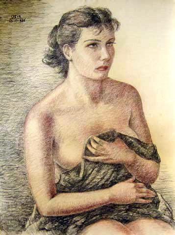 Mulher de ombros nus