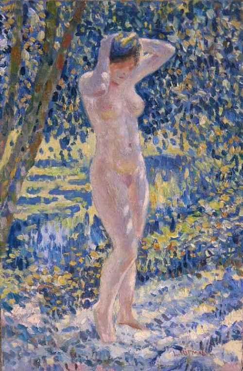 Nude In Landscape