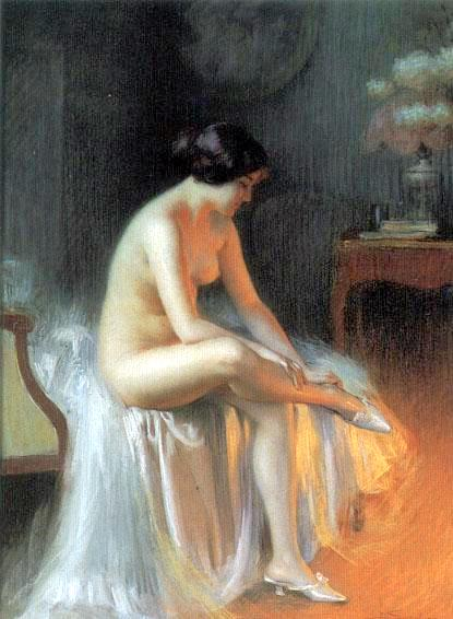 A Nude By The Firelight