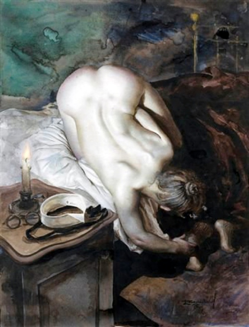 Nude With Candle