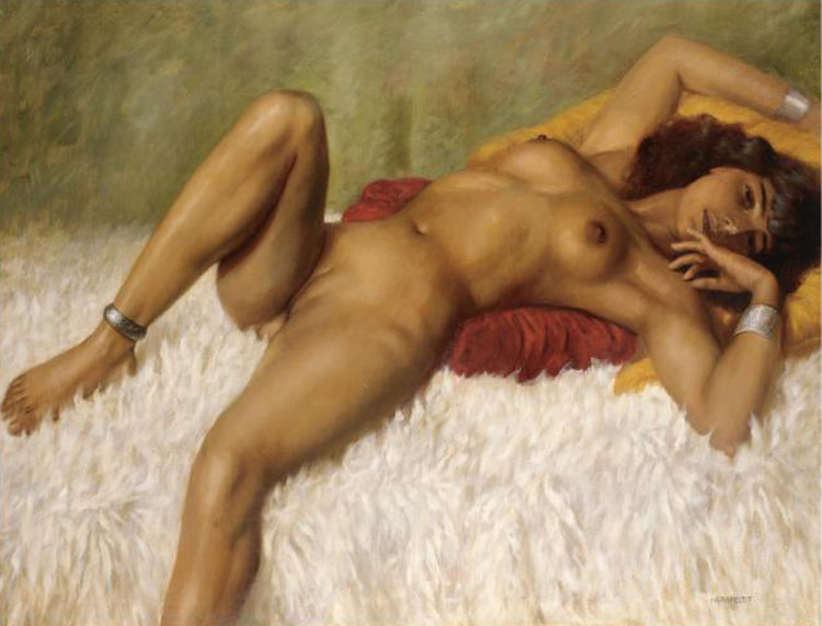 nude Classic painting reclining