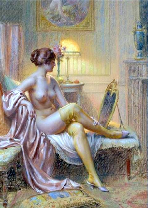 Semi-Nude Lady