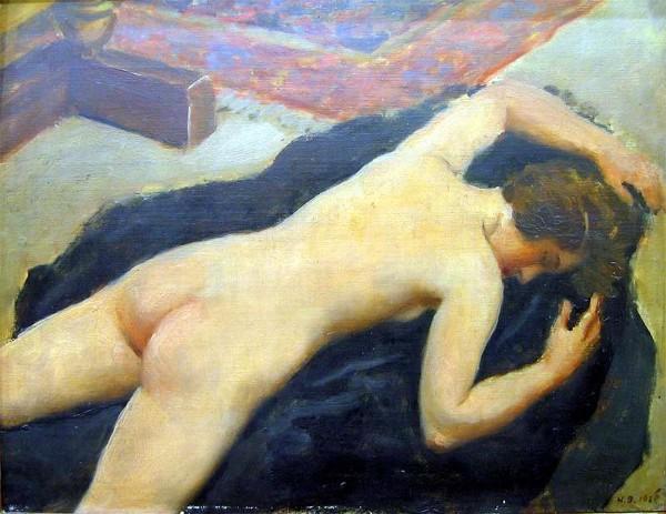 naked girl lying on stomach