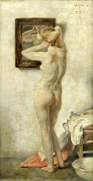 A Nude In Front Of Mirror