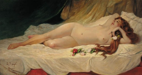 A Nude Reclining In An Interior