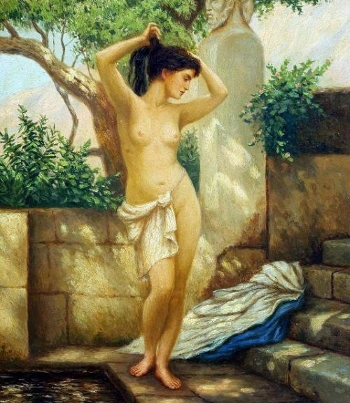 Greek Woman At The Fountain