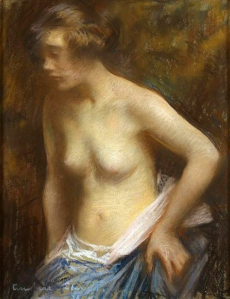 A Semi Nude Figure Of A Young Woman