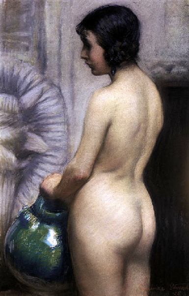 Standing Nude With Waterpot
