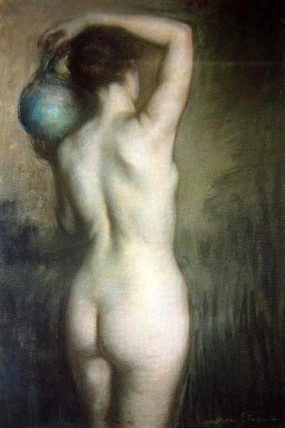 Woman With Green Urn