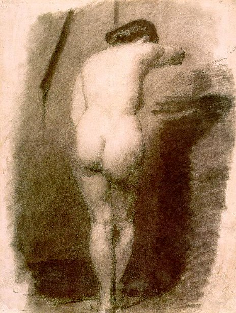Study Of A Standing Nude Woman
