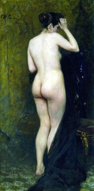 Ilya Repin - Nude Model (From Behind)