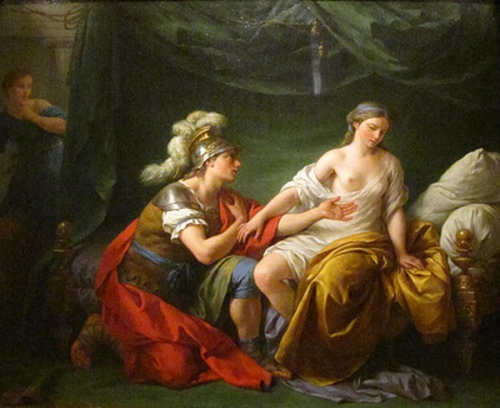Alcibiades On His Knees Before His Mistress