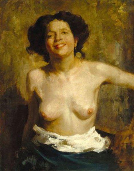 Cesare Tallone - Female Nude
