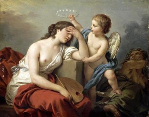 L'Amour des Arts console la Peinture des écrits ridicules et envenimés de ses ennemis