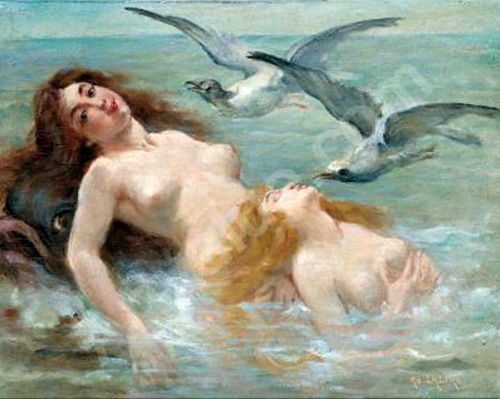 NAÏADES -Adolphe La Lyre (1850 – 1935, )