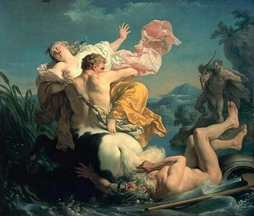 The Abduction Of Deianeira By The Centaur Nessus