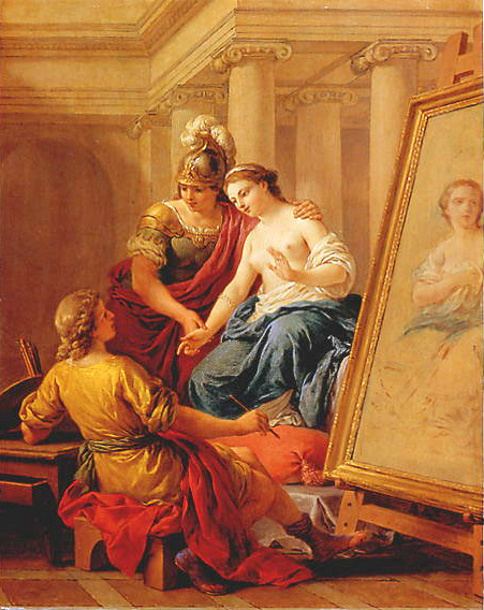 The Artist's Model - Apelle In Love With Alexander's Mistress