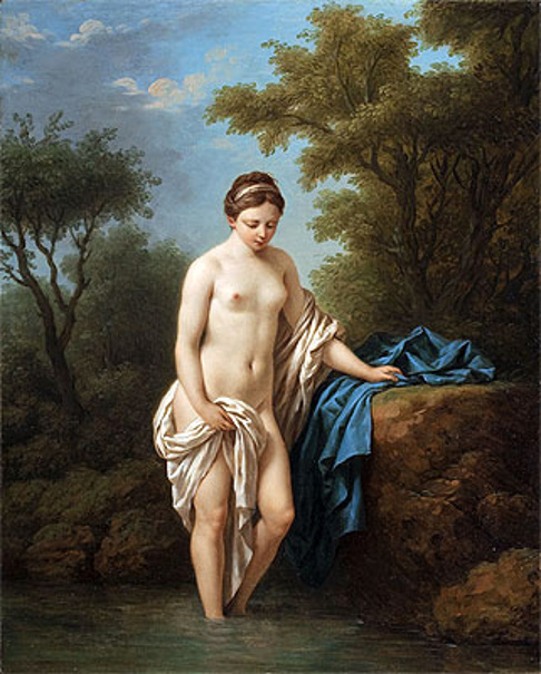 Young Lady At Bath