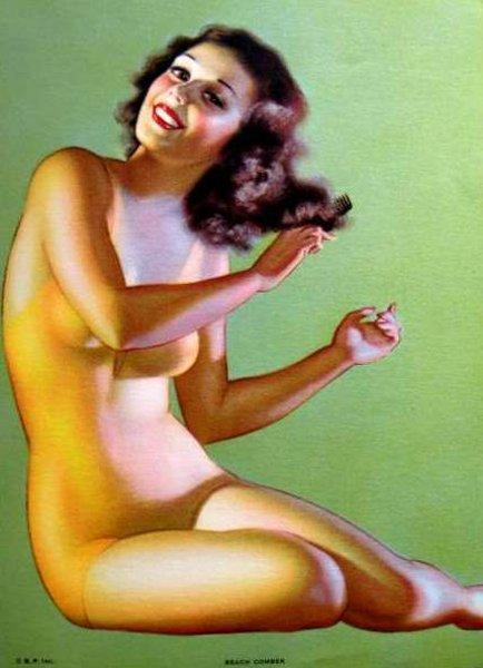 Earl Moran 1893  1984, American  La Conchiglia Di Venere-1383