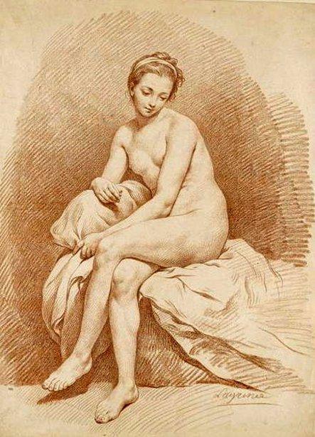 Seated Nude Girl