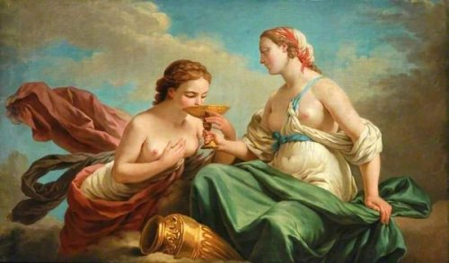 Two Nymphs - Allegory Of The Five Senses