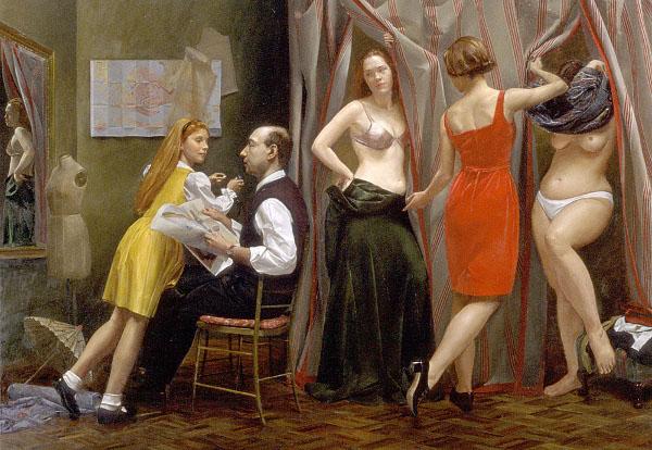 Andrew Sterrett Conklin, akt, akt kobiecy i portret