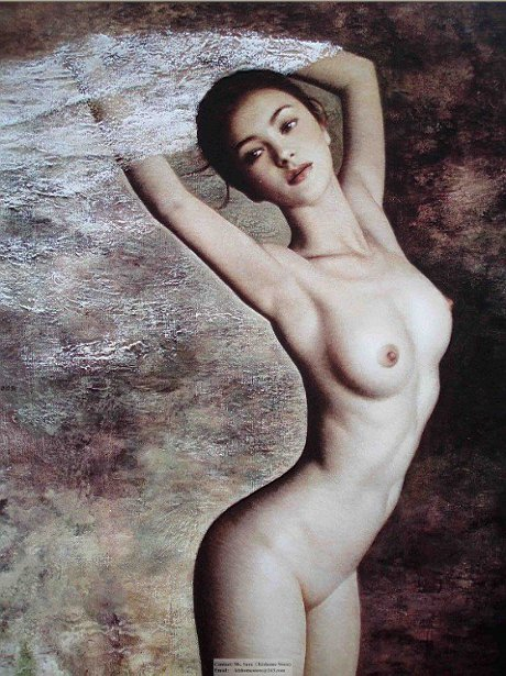 Painting body nude girl think